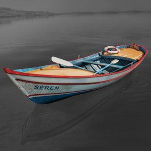 fishing sailboat 3D model