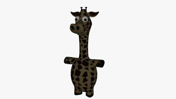 cartoon giraffe 3D