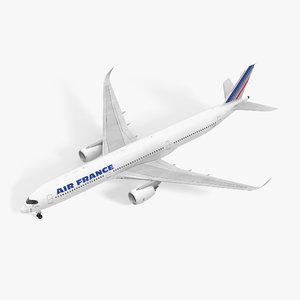 3D airbus a350-1000 air france