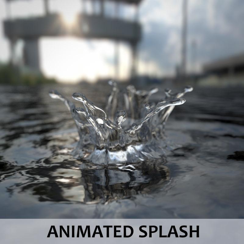 3D fluid splash model
