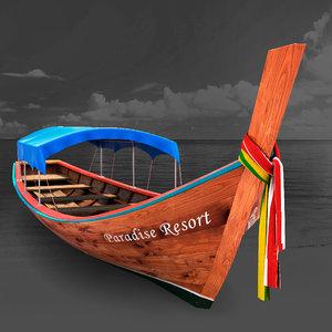 3D fishing sailboat model