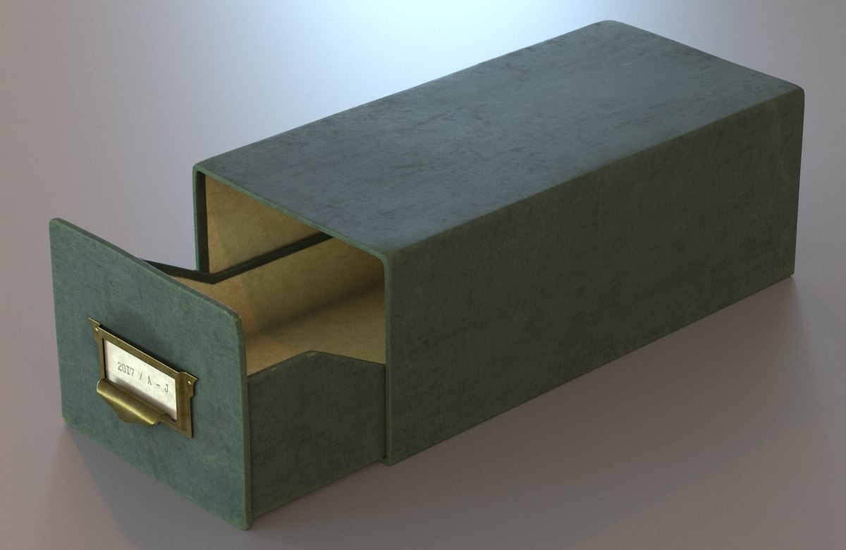3D archive box