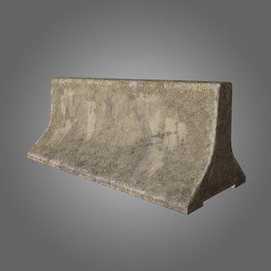 concrete barrier pbr 3D model