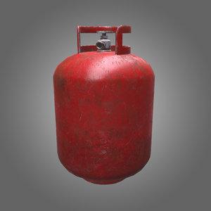 3D propane tank pbr model