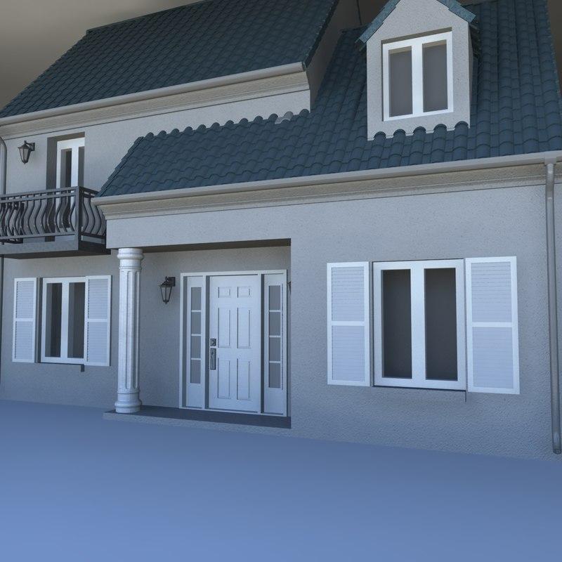 80 s house 3D model