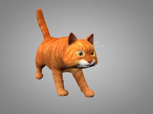 3D cat kitty model