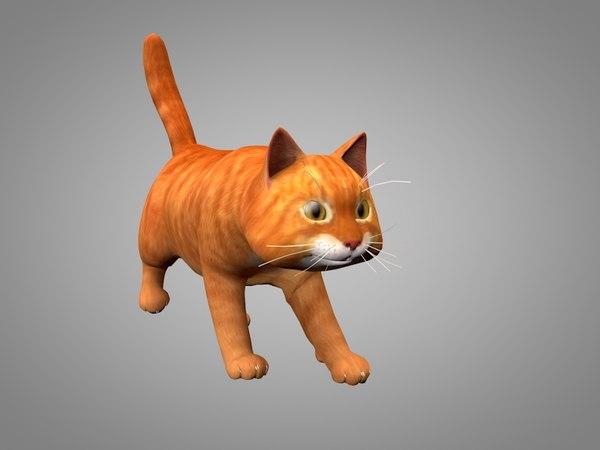 3D cat kitty model