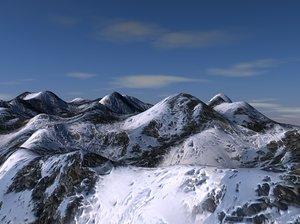 snow mountain terrain model