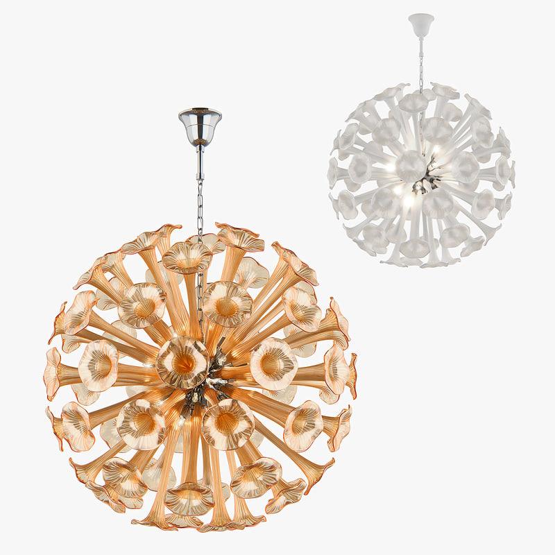 3D model chandelier bardano lightstar