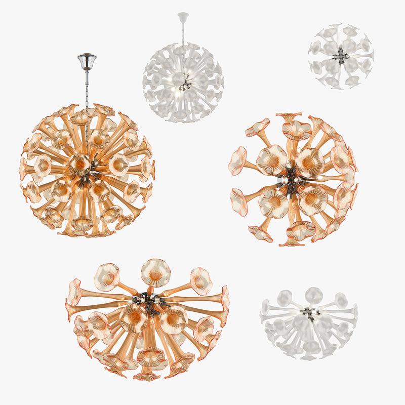 chandelier bardano lightstar 3D model