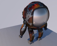 space character 3D model