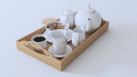 breakfast set 3D model