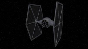 3D star wars tie fighter