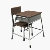 school class table 3D
