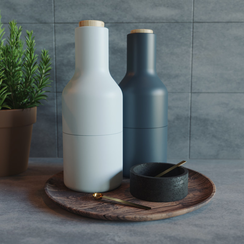 3D canisters wooden tray