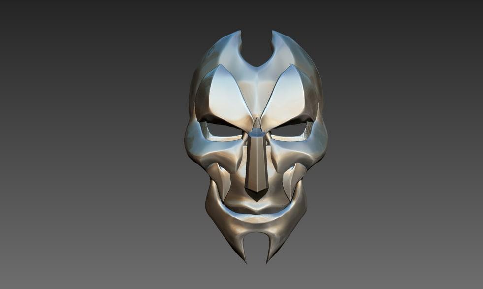 jhin mask 3D model