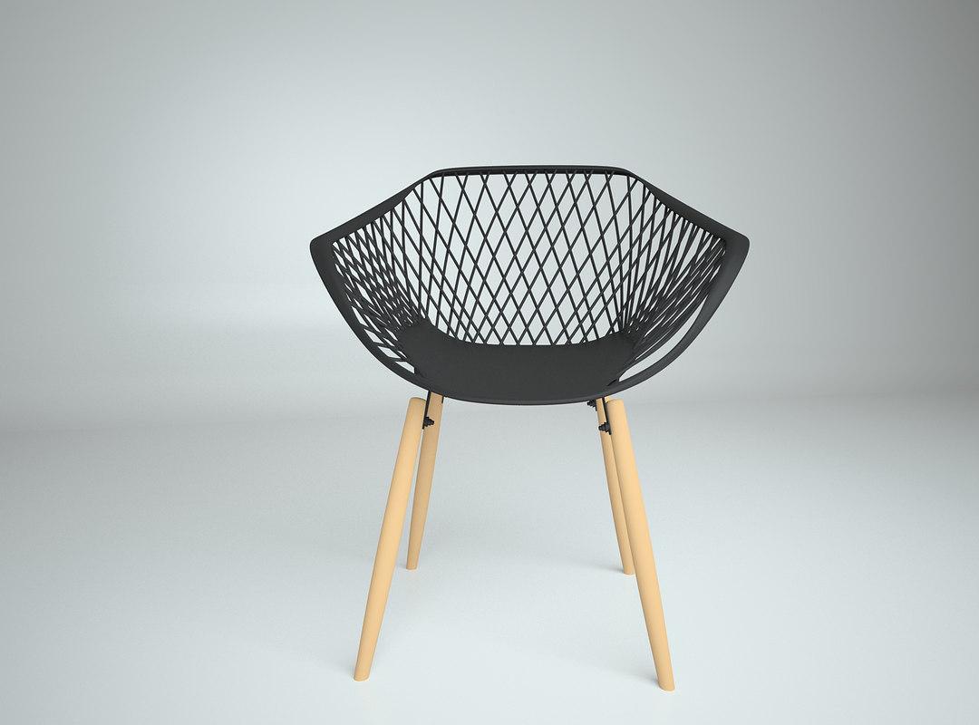 modern chair 2 3D