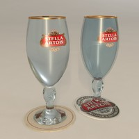 stella artois glasses solid 3D model