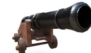 3D pirate ship cannon