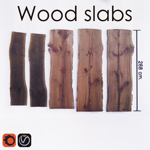 slab tables wood 3D model