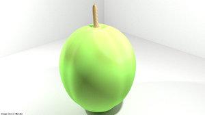 coconut fruit 3D model