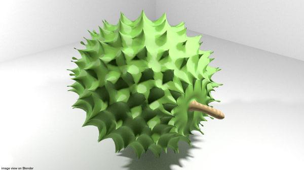 3D durian fruit tropical