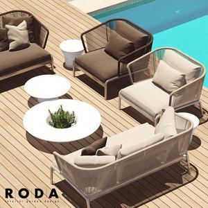 spool roda outdoor furniture 3D
