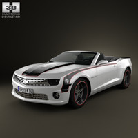 chevrolet camaro black 3D model