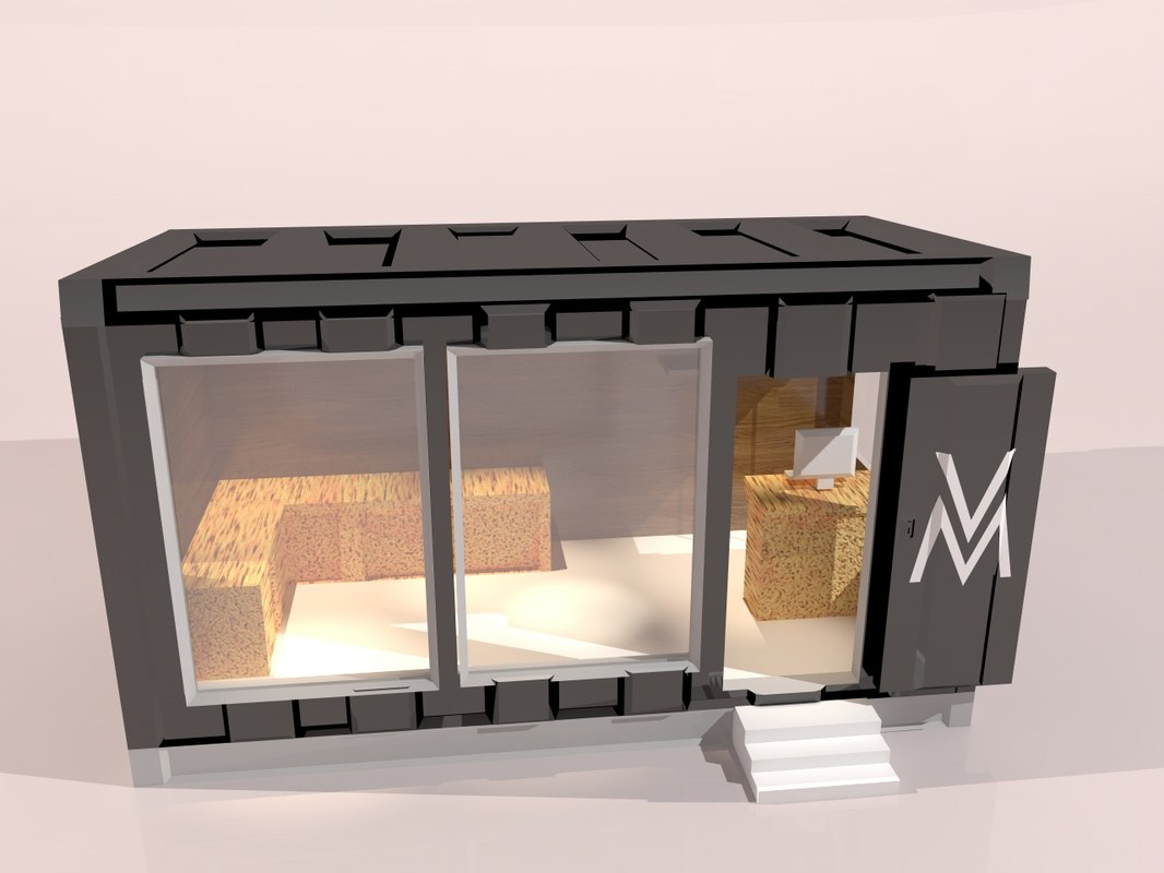 3D model store trailer clothing