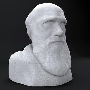bust darwin 3D model