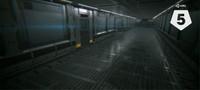 3D sci fi space corridor