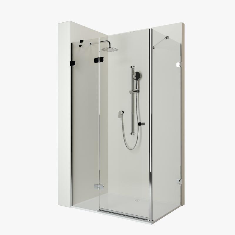 shower cabin ravak brilliant 3D