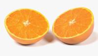 orange halves 3D