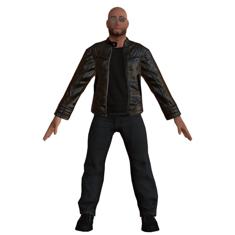3D mobile biker model