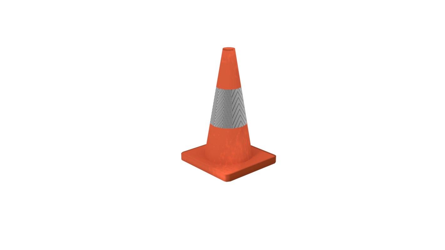 basic street traffic cone model