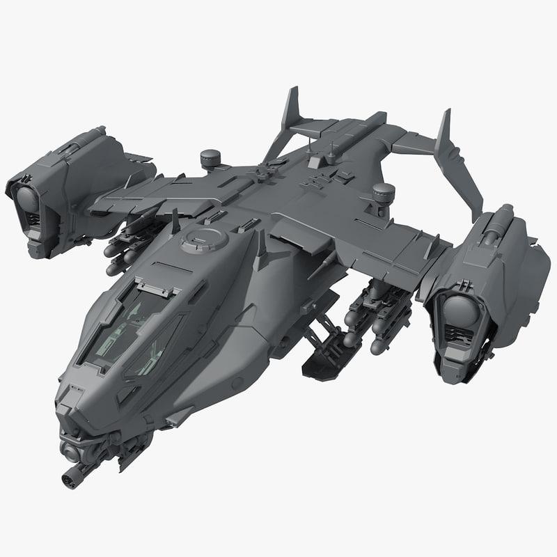 sf heavy dropship 3D model