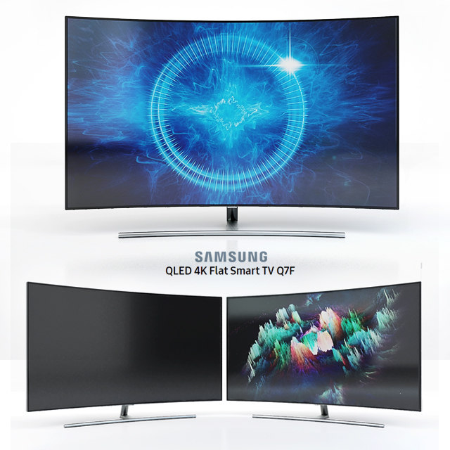 3D qled tv curved 55 model