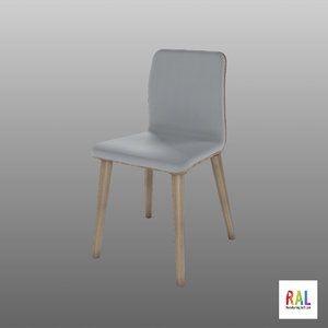 chair scandinavian wood 3D model