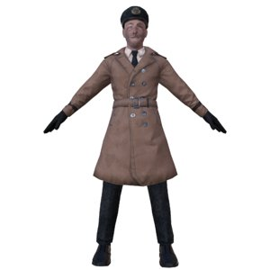 navy captain mobile res 3D model