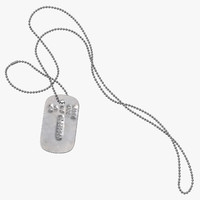 dog tag chain john model