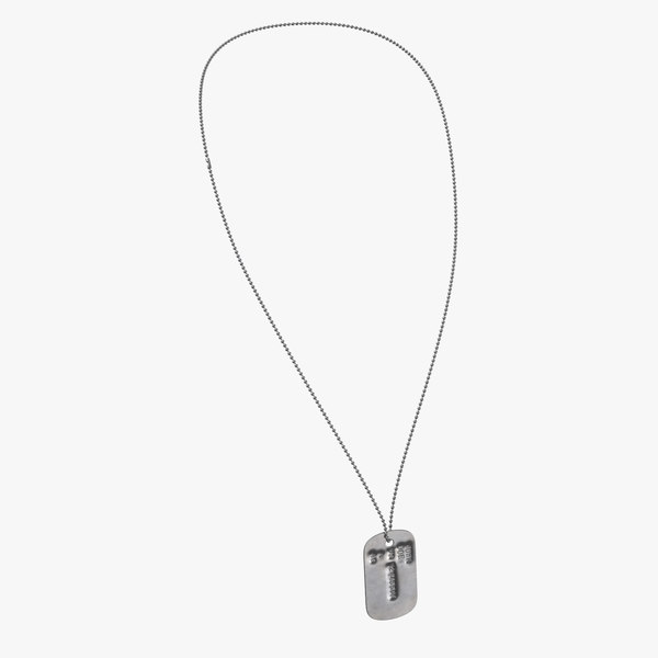 dog tag chain john 3D model