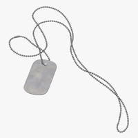 3D dog tag blank chain
