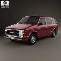 van car caravan 3D model