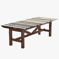 3D garden dining table marble