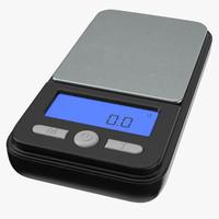 drug scale gram 01 3D model
