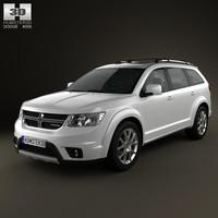 3D dodge journey 2011 model