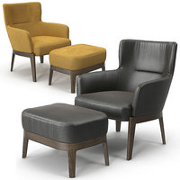 Molteni Chelsea armchair and pouf