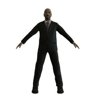 businessman mobile edition polies 3D model