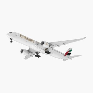 3D model airbus a350-1000 emirates air
