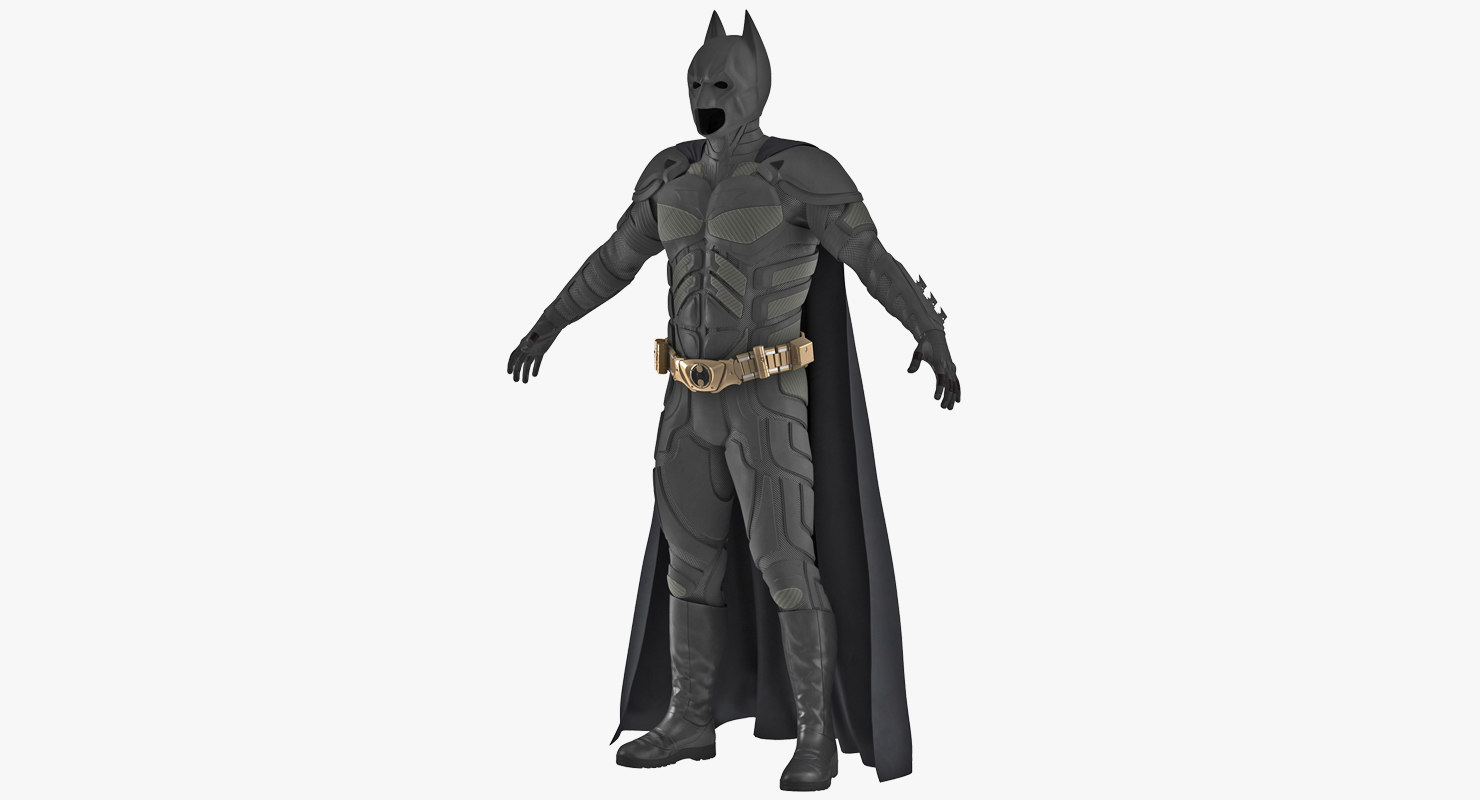 batman costume 3D